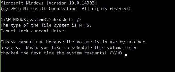 CHKDSK -- built in utility to fix and repair hard drive errors