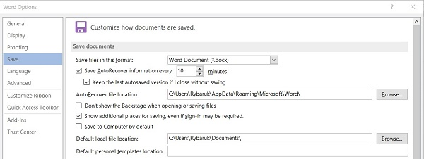 How to recover unsaved Microsoft Word documents